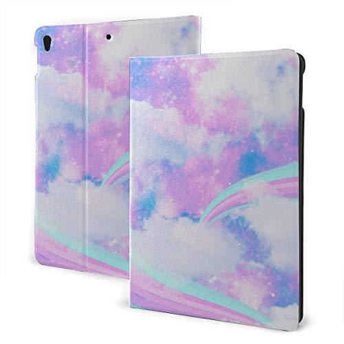JIUCHUAN Ipad Case Covers 2019 Ipad Air3/2017 Ipad Pro 10.5 Inch Case/2019 Ipad 7th 10.2 Inch Case Pink Rainbow Unicorn Cloud Cute Ipad Case Auto Wake/sleep