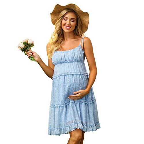 Maacie Damen UmstandsKleid festlich Sommer Kleid Schwangerschafts Kleider MC0058S21-1_M