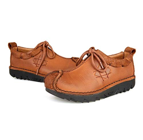 WYFC Hommes Mocassins Flat Oxfords Casual Shoes Chaussures De Travail Léger Business Comfort,Brown,38