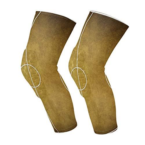 Mangas de rodilla de cancha de baloncesto vintage Calcetines de compresión para pantorrillas Calcetines de compresión de nido de abeja