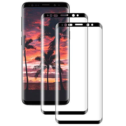 RSSYTZ Vetro Temperato per Samsung S9 Plus, [2 Pezzi] 9H Copertura Completa, AntiGraffio, Senza Bolle, Pellicola Protettiva per Samsung S9 Plus