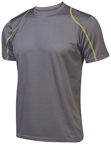 Asioka 375/16 Camiseta de Running, Unisex Adulto, Gris, L