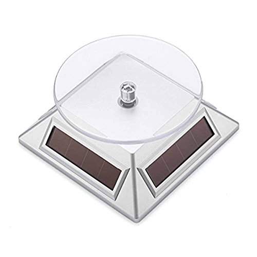 GMW 10l0l 360 ° Rotary Phone Jewelry Boutique Visualizers Solar Rotation Showcase (Silver)