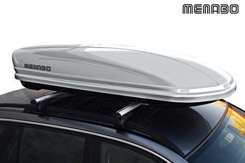 Menabo Dachbox Autobox Mania Silver 400 silber glänzend