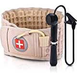 Lumbar Support Decompression Belt Inflatable Back Brace Spinal Air Traction Device Back Lumbar Corrector Lower Back Pain Relief for Herniated Disc (Waist Circumference 29 Inches to 49 Inches)