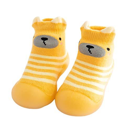 Lsgepavilion Calcetines de invierno cálidos, para otoño e invierno, gruesos, cálidos, antideslizantes, para el suelo, zapatos de suela suave, regalo para Navidad, color amarillo 21