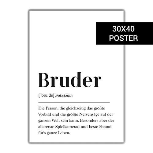 Bruder Definition: 30x40cm Poster