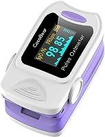 CocoBear Pulse Oximeter Moniteur de saturation pour oxymètre de doigt portable professionnel, écran OLED mesurant la...