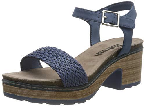 Refresh 69500.0, Sandalias con Plataforma Mujer, Azul (Jeans Jeans), 39 EU