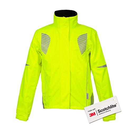 Salzmann 3M Chaqueta de Ciclismo de Alta Visibilidad - Chaqueta Impermeable y Transpirable - Fabricada con 3M Scotchlite
