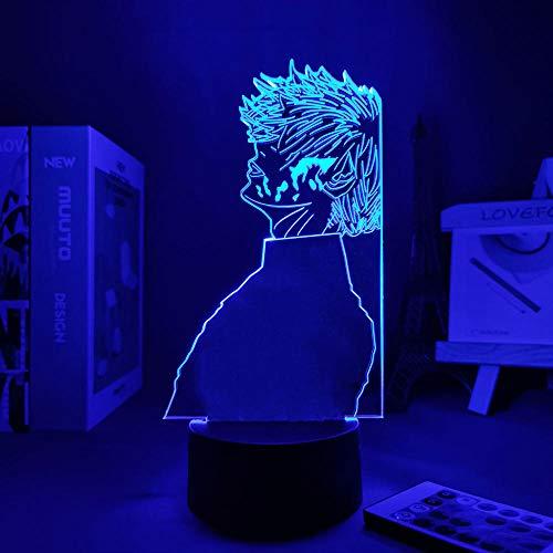 Lámpara De Ilusión 3D Luz De Noche LED Tokyo Ghoul Ken Kaneki-Lamp Be Lámparas De Noche Para Decoración De Dormitorio Figuras De Anime Luz LED