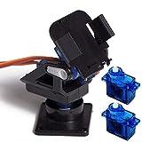 イドミせ SG90サーボ用 2軸 カメラマウント 2軸アングル FPV 空撮にも (マウント+2個SG90) [並行輸入品]