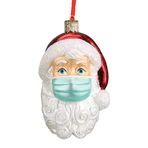 Rich-home Weihnachtsanhänger Christbaum Deko Weihnachtsbaumkugel Weihnachten Weihnachtsmann Ornament Personalisiertes Zuhause