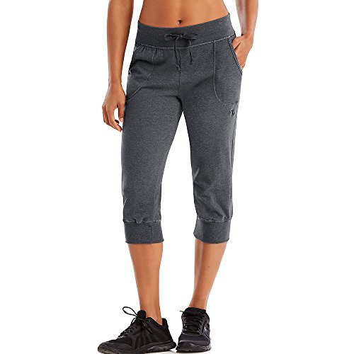 Champion Women's Jersey Banded Knee Pant, Granite Heather, Medium