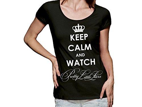 Damen T-Shirt mit Druck Keep Calm and Watch Pretty Little Liars (XL)