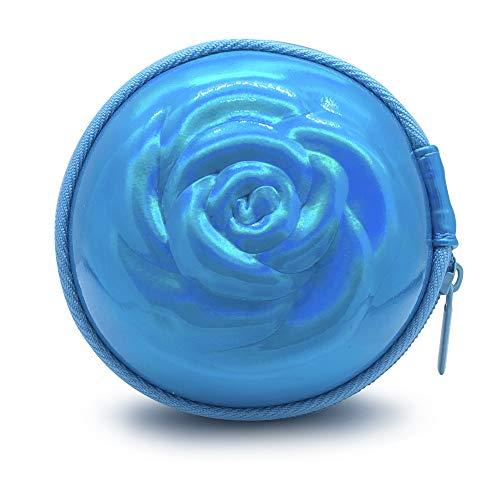 Sileu Custodia per coppette mestruali per portare il tampone o la coppetta mestruale in modo elegante e discreto in borsa o in viaggio, grande 10 cm, blu olografico