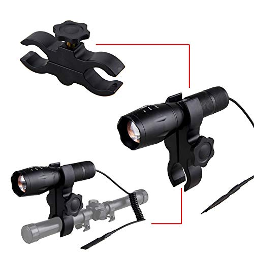 IR 850nm LED Torch, IR Illuminator Light Night Vision Infrared Hunting Flashlight Zoomable IR Torch with Scope Mount, Pressure Switch for Coyote Hog Predator Hunting, Battery and Charger Include
