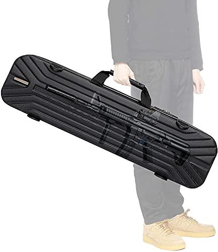 WSVULLD Caja Fuerte del Rifle, Caja Fuerte de Airsoft con Material ABS, Correa de Hombro Trenzada de Nylon, Correa Impermeable y Ajustable del Hombro (51.2 * 7.9 * 5.1in)