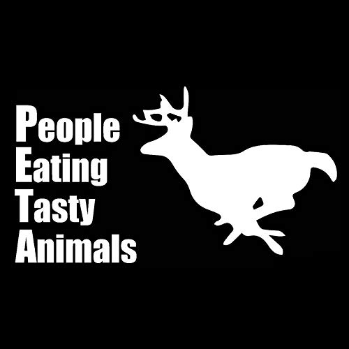 RJSYT 2PCS Autoaufkleber Menschen Essen Leckere Tiere Wasserdicht Kraftstofftank Aufkleber Autodekoration Vinyl 12.9 cm * 7.1 cm