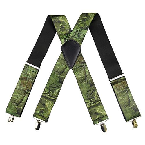 YMXBSBD Bretelles Vintage Men Military Bretelles Homme Large 5Cm Camouflage Bretelles Tactiques De l'homme 4 Clips