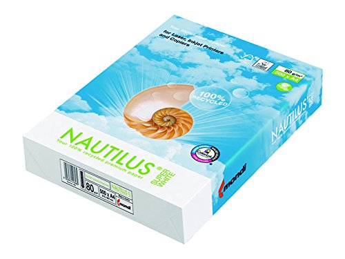 Nautilus 224996 - Pack 500-Blätter, Mehrfachfunktionen-Papier NAUTILUS SUPER W A3 80G 100%