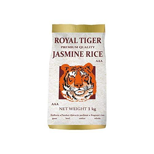 [ 4x 1kg ] ROYAL TIGER Jasmin Duftreis Jasmin Reis, ganz, Jasmine Rice AAA