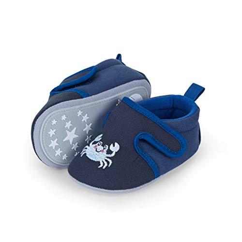 Sterntaler Unisex Baby-Krabbelschuh Slipper, Marine, 15-16 CM (4-6 Monat)