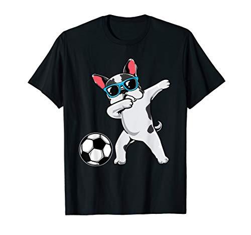 Dabbing French Bulldog Cute Frenchie Dab Soccer Boys Gift T-Shirt