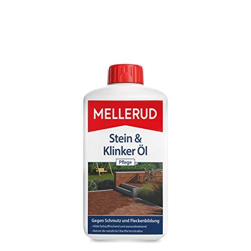 Mellerud Stein & Klinker Öl Pflege – Wasserabweisender Schutz vor Schmutz und Fleckenbildung im Innen- und Außenbereich – 1 x 1 l