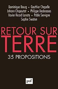 Retour sur Terre : 35 propositions par Dominique Bourg