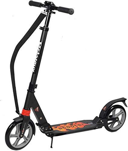Fast 88 City Roller Scooter Klappbar & Höhenverstellbar Roller für Erwachsene | Big Wheel Scooter Cityroller mit Doppelfederung und Tragegurt, Tretroller für Kinder ab 12 Jahre bis 100kg