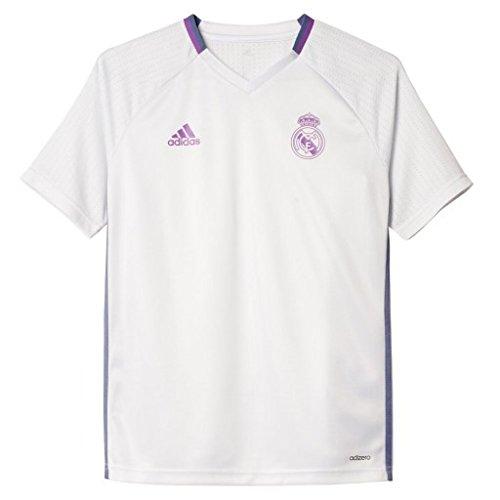 adidas Real Madrid CF TRG JSY Y Camiseta, Niños, Blanco/Morado, 9-10 años