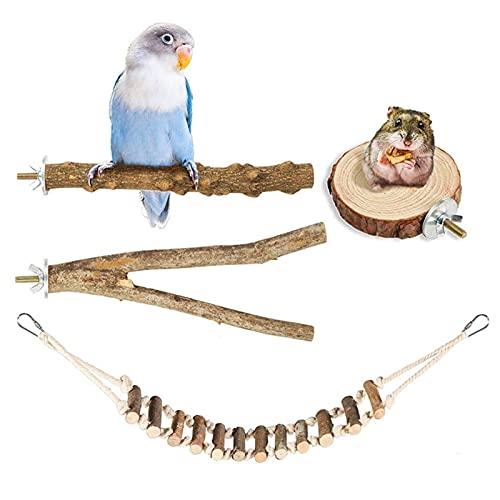 poetryer Vogel Barsch Papagei Spielzeug Natur Sitzstangen Für Vögel Wie Wellensittich, Kanarienvogel, Naturholzstangen Für Den Vogel Als Wichtiges Vogelzubehör Im Vogelkäfig Zubehör