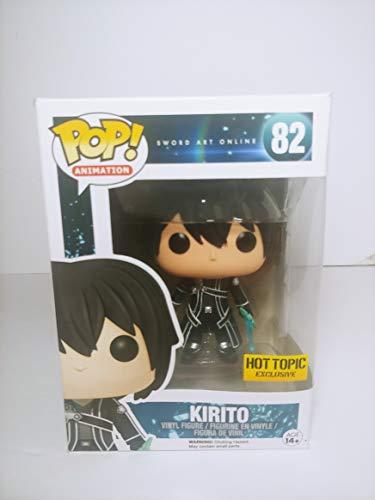 POP! Funko Anime Sword Art Online Kirito W/Clear Sword Exclusive Anime Vinyl Figure #82