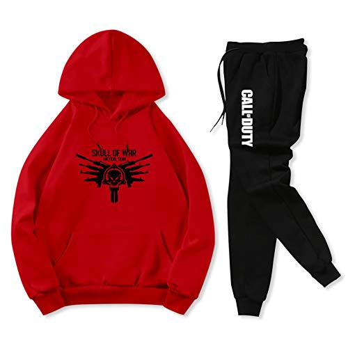 Skull War Teens Sweatshirt and Sweatpants Athletic Jogging Suits for Youth Funny Tracksuits 2 Pieces Set Youth S