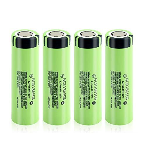WSXYD Batería De Litio Verdadera del Top Plano 3.7v NCR 18650b 3400mah, Recargable para Cargar La CéLula del Li-Ion 4pcs