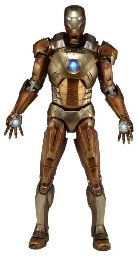 MARVEL 61224 1:4 Scale Avengers Iron Man Midas Version in Gold Armor Figure