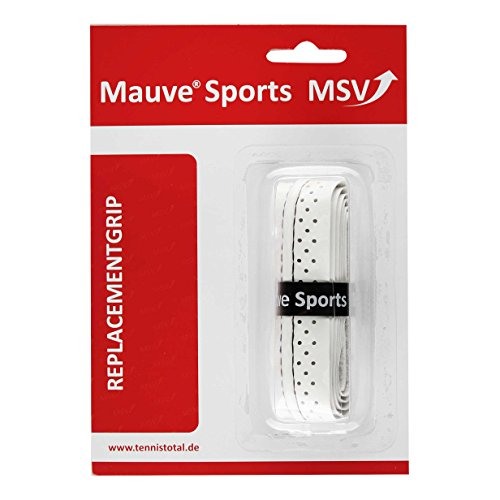 MSV Basic Grip Soft-Stich Perforated and Stitched weiß Basisgriffbänder, One Size