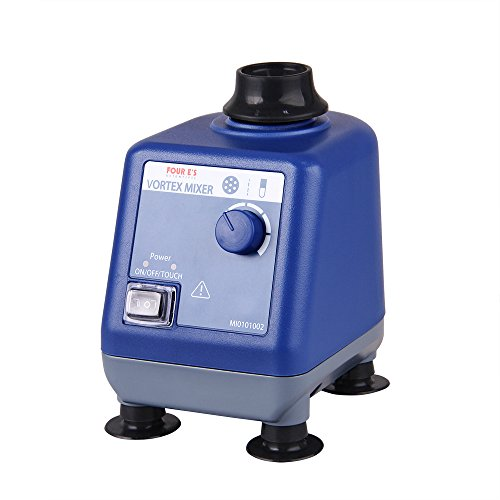 Vortex Mixer, Four E's Scientific Lab Vortex Shaker, 0-3000RPM, Touch and Continuous Mixing Function, Mix up to 50ml Within 3 Seconds, 6mm Orbital Diameter