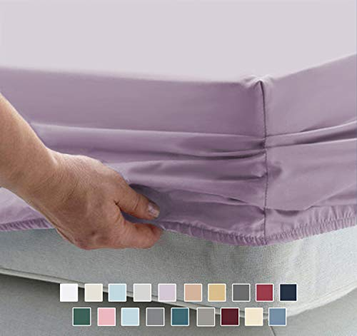 Pizuna 1000 Thread Count Cotton Lavender Sheets Queen, 100% Long...