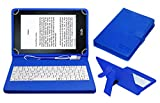 Acm USB Keyboard Case Compatible with Kindle Voyage 6' Tablet Cover Stand Study Gaming Direct Plug & Play - Blue