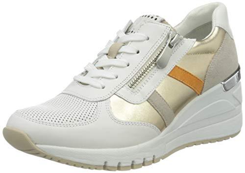 MARCO TOZZI 2-2-23765-26 Leder Sneaker, Scarpe da Ginnastica Donna, Pettine Bianco, 41 EU