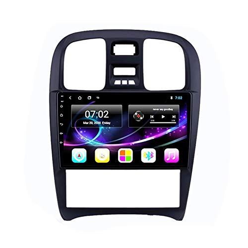 MGEM 10 Inch Touchscreen Car Stereo Radio Multimedia Entertainment Player with WIFI/Bluetooth/GPS Navigation/FM Radio Support 1080P Video/USB, for Hyundai Sonata 2003-2009,Quad core,WIFI 1+16