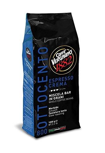 Vergnano Crema 800, Espresso ganze Bohne, zart und vollmundig, 1000 g