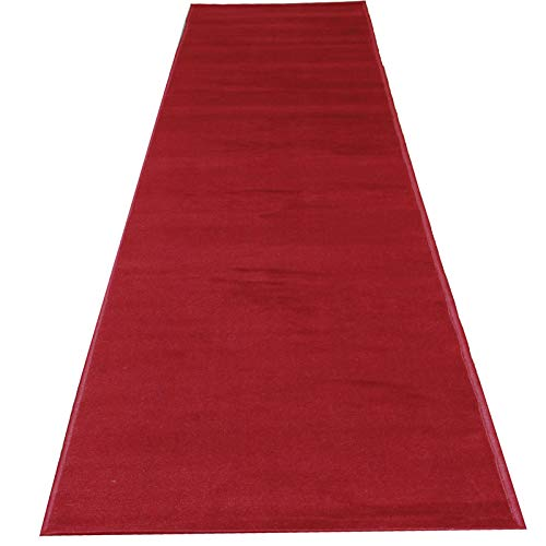 Mybecca Persian RED Carpet Aisle Runner 2 x 10 ft (1.8ft x 10 ft) 21.6in x 120in Color: Dark Red High Class VIP Quality for Parties, Hollywood-Feel Events, Wedding and Ceremony