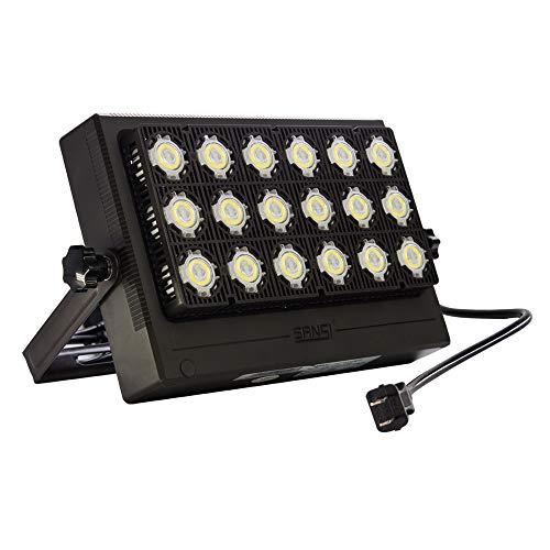 SANSI 100W LED Flood Light, 10000lm Super Bright Outdoor Security Light, 650W Equivalent, IP66 Waterproof LED Work Light with Plug, 5700K Daylight White Wall Light, LED Landscape Lights For Yard, Gard