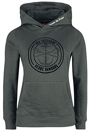 Sea Shepherd X Derbe Hamburg JF_Zope Femme Sweat-Shirt à Capuche Noir S