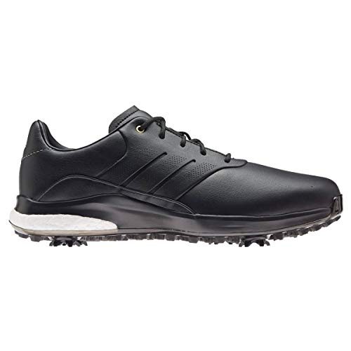 ADIDAS Performance Classic, Zapatos de Golf Hombre, Negro/Dorado, 43 1/3 EU