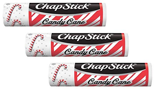 ChapStick Candy Cane Pack of 3  NEW DESIGN