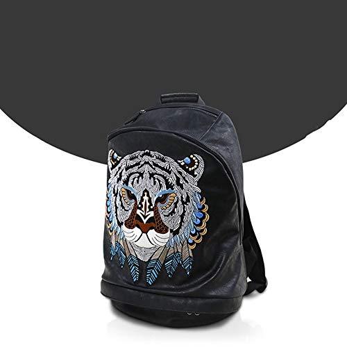 RongDuosi geschikt voor rugzakken voor laptops, met borduurwerk, personaliseerbaar, kwaliteit van leeuwen, voor buiten